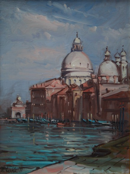 Grand Canal with S. Maria della Salute