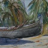 Beached Fishing Boat, South India