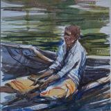 Boatman, Backwaters, Kerala